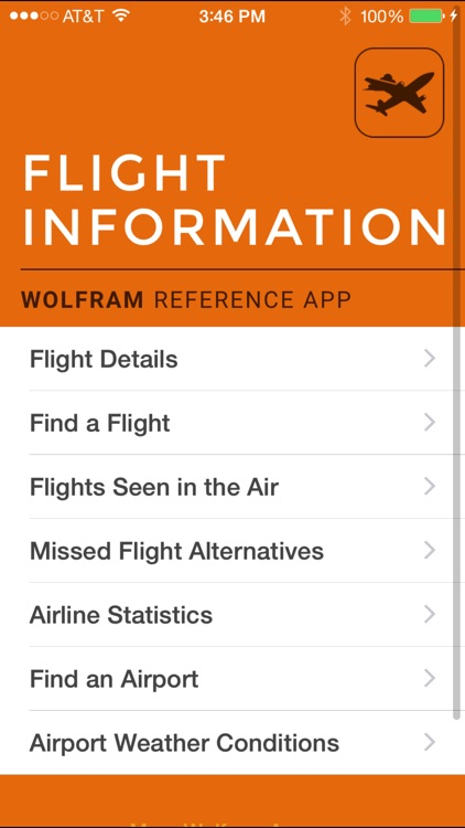 Wolfram Flight Information Reference App screenshot-0