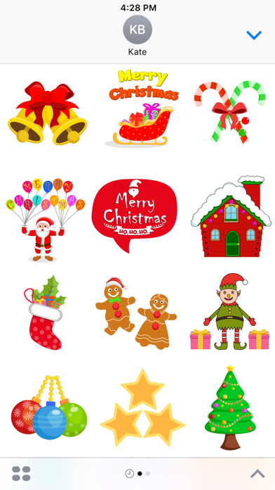 点击获取Christmas Celebration Stickers Pack