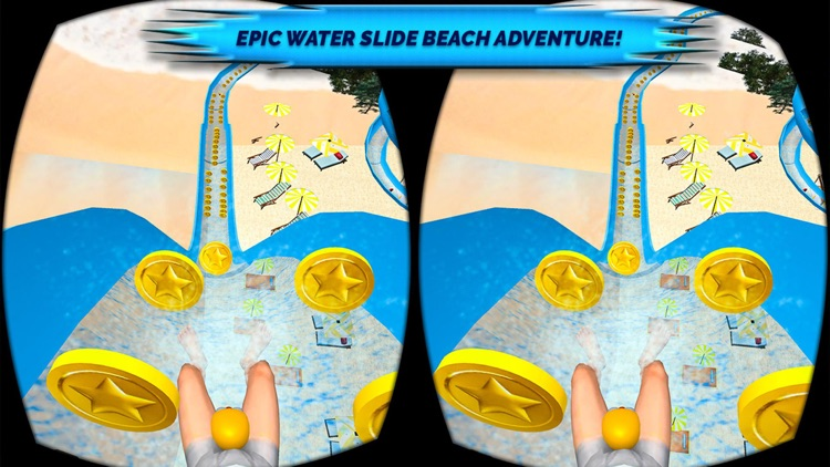 VR Beach Water Sliding - Water stunt & ride