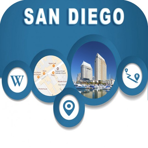 San Diego CA USA City Offline Map Navigation EGATE