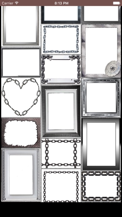 Metal Photo Frames - Silver, Steel, Shiny Pictures - App - Mobile Apps