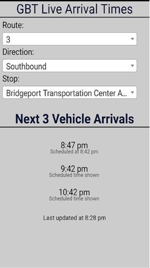 Bridgeport GBT Bus Tracker on the App Store