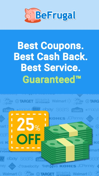 BeFrugal Cash Back & Coupons