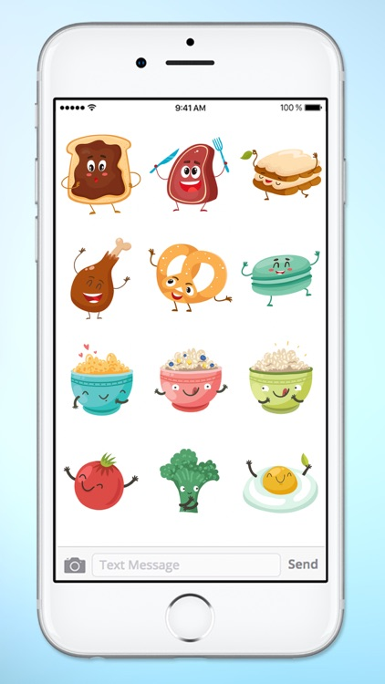 Fun Breakfast and Lunch Food Sticker Pack screenshot-4