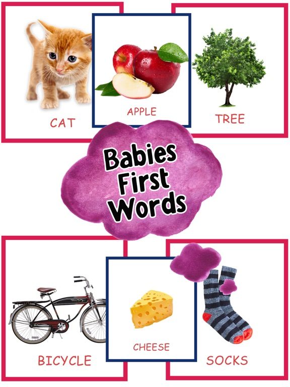 words for babies cards