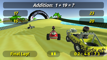 Math Racing 2 Pro screenshot 1