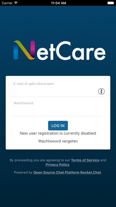 NetCare Chat screenshot one