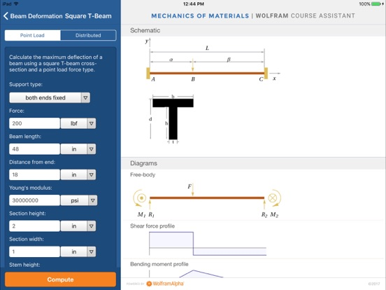 Wolfram Mechanics of Materials Course Assistant-ipad-1