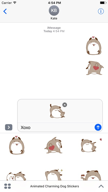 Animated Charming Dog Stickers For iMessage