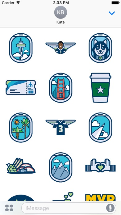Alaska Airlines Stickers-1