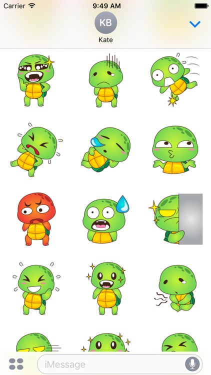 Pura the funny turtle for iMessage Sticker