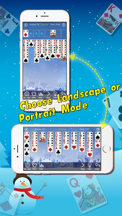 freecell christmas play classic solitaire cards - Solitaire Christmas