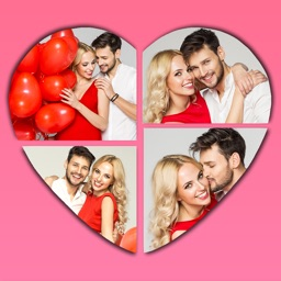 Valentine's Day Collage Frames! Love Photo Editor