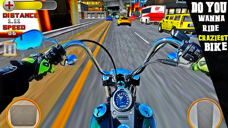 VR Crazy Bike Race: Traffic Racing Free