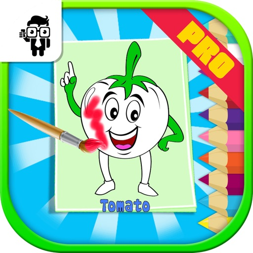 Vegetables Kids Coloring Book Pro
