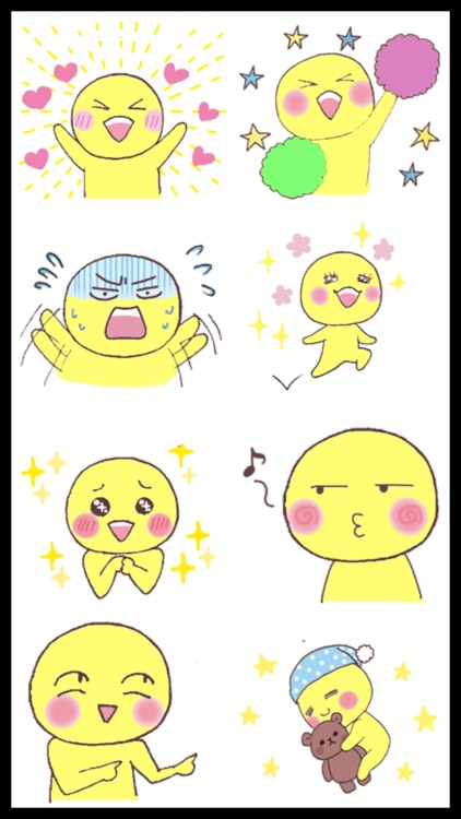 Funny Yellow Man Stickers