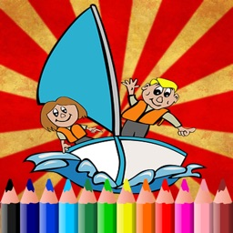 Boat Coloring Book For Kids Tolders