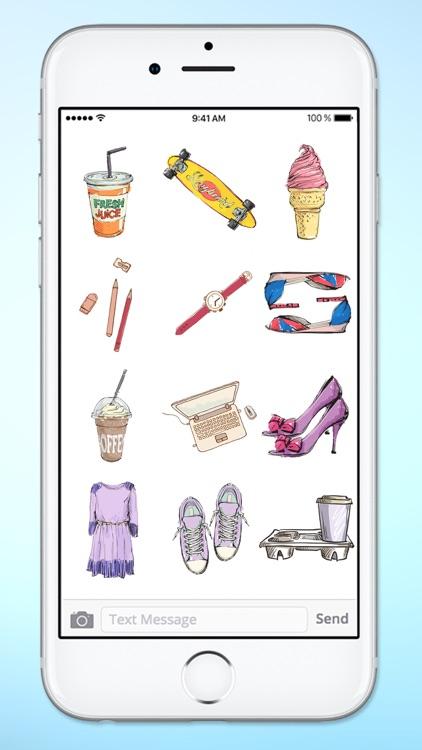 Stylish Girl Beauty and Fashion Sticker Pack 3 screenshot-3