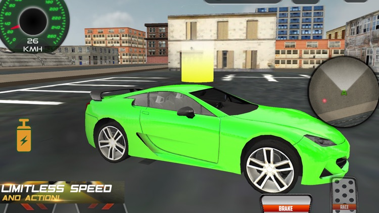 Fast Car Driving City
