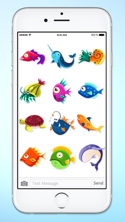 Funny Fish and Sea Life Sticker Pack screenshot-4