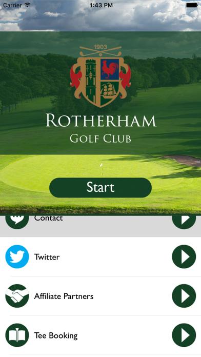 Rotherham Golf Club GPS screenshot one