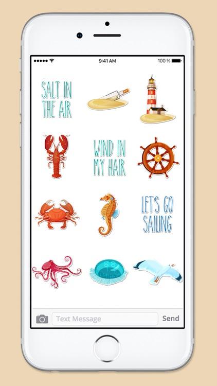 Beach Ocean and Nautical Sticker Pack screenshot-3