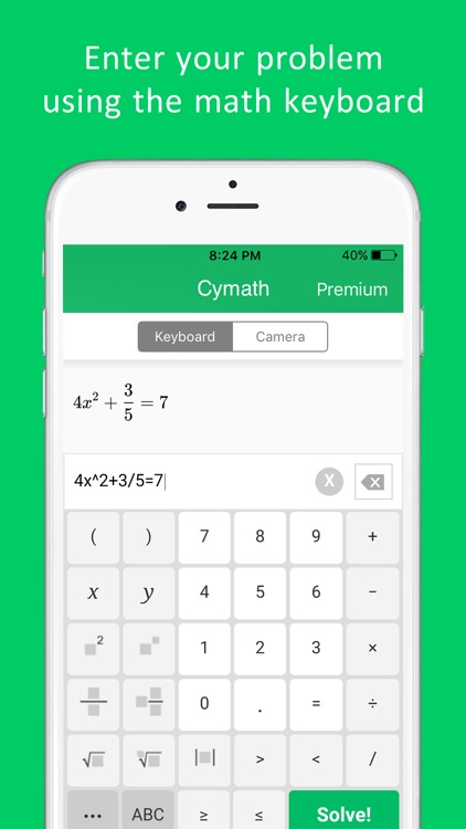 Cymath - Math Problem Solver screenshot-2