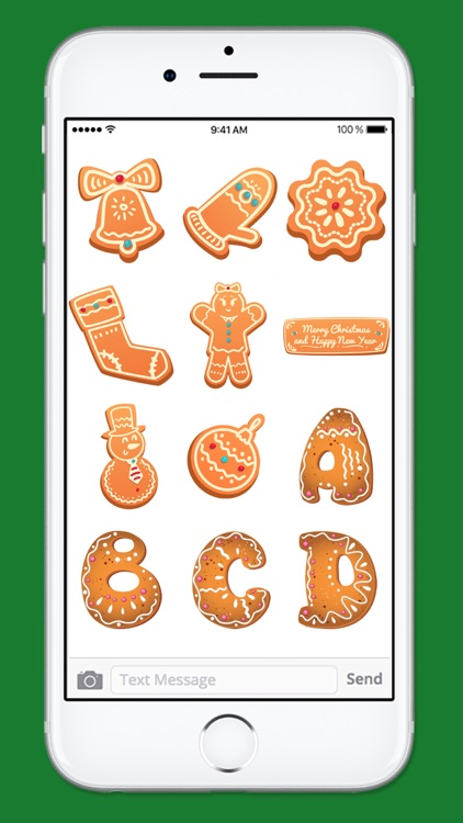 Gingerbread Cookies Holiday Sticker Pack 1 screenshot-3