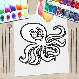 Animal Kid Coloring Book