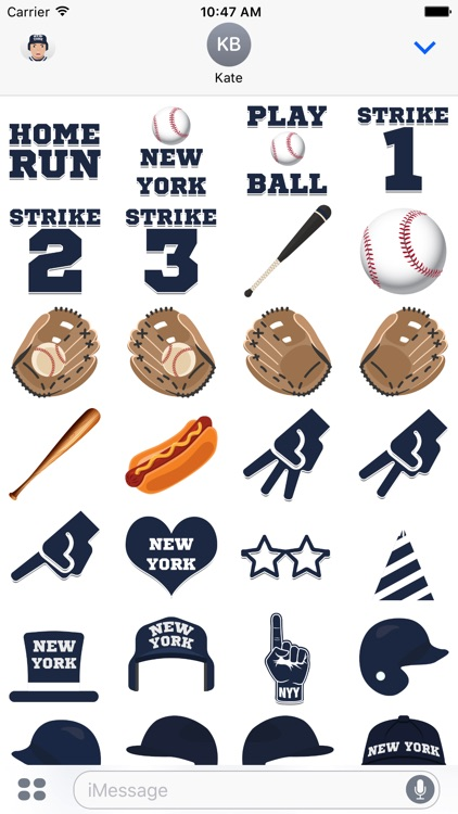 New York Y Baseball Stickers & Emojis screenshot-3