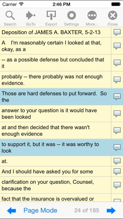 Universal Court Reporting Mobile screenshot-4