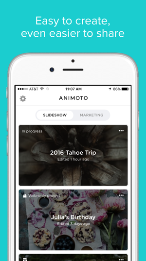 Animoto Video Slideshow Maker Screenshot