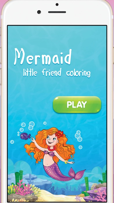 点击获取Mermaid little friend coloring book