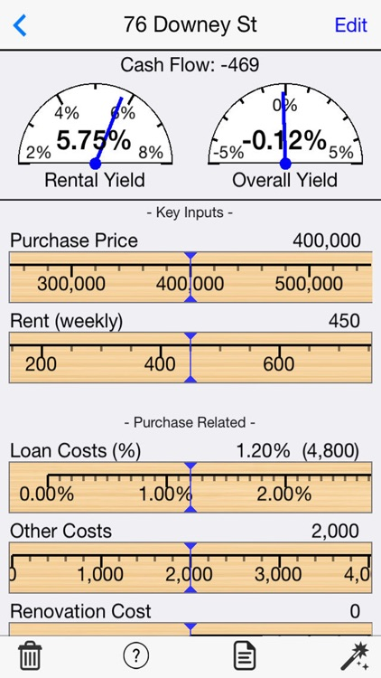Rental Property Selector (Rental Yield Calculator)