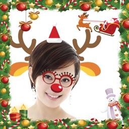 Christmas Photo Frames - Santa Stickers