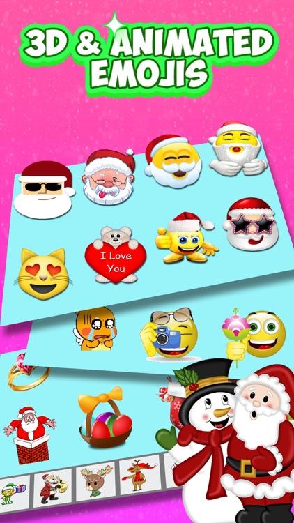 Cmoji - real xmas sticker pack screenshot-3