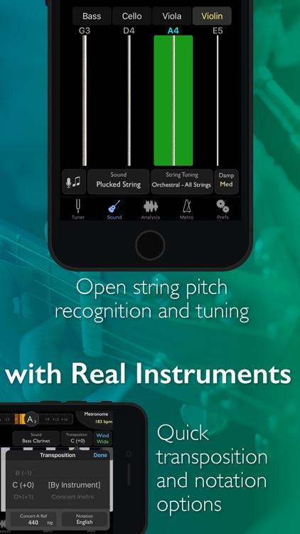TonalEnergy Chromatic Tuner and Metronome screenshot-3