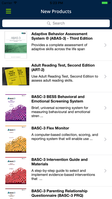 Pearson Clinical UK Assessment Assistant screenshot two