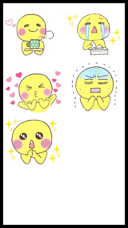 Funny Yellow Man Stickers screenshot-4