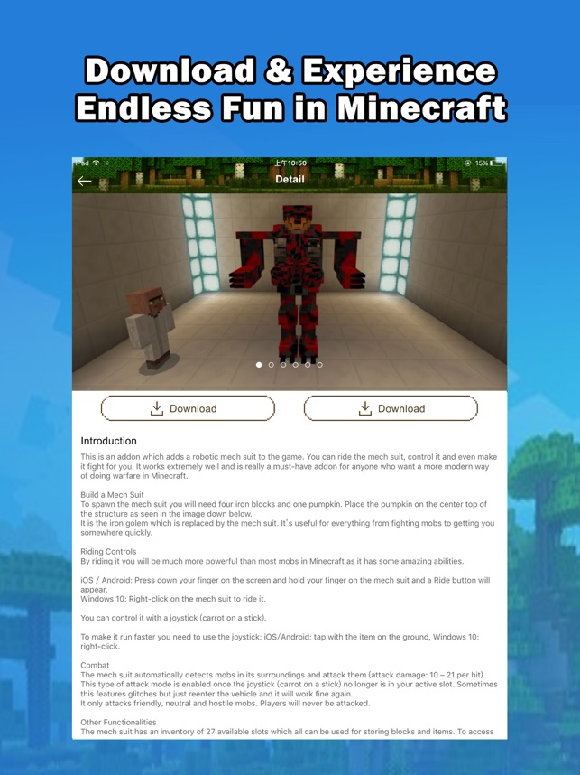 MCPE Add Ons - free maps & addons for Minecraft PE on the