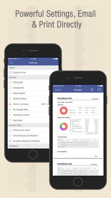 Checkbook Wiz - Track Expense, Income & Cash flow screenshot-4