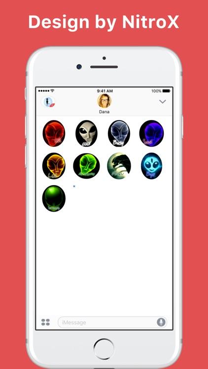 Alien Emoji stickers by NitroX for iMessage