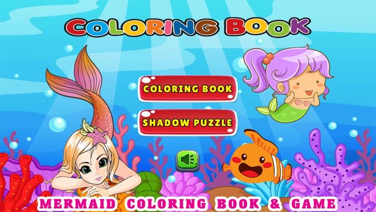 Cute Mermaid Coloring Book Pages Free - Kids Games by Jadet