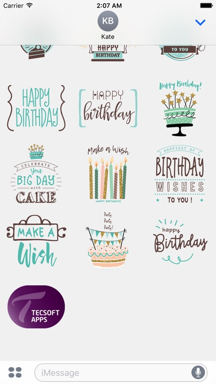 Wishing you a Happy Birthday Stickers for iMessage