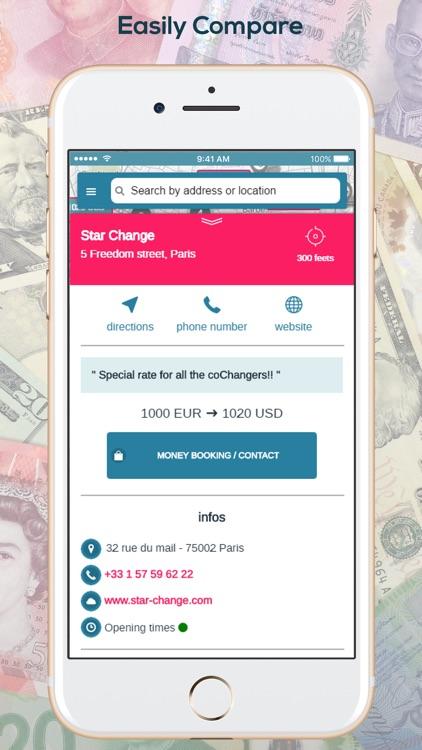 coChange - Money Exchange GPS