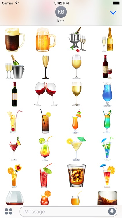 Beers & Drinks Stickers for iMessage
