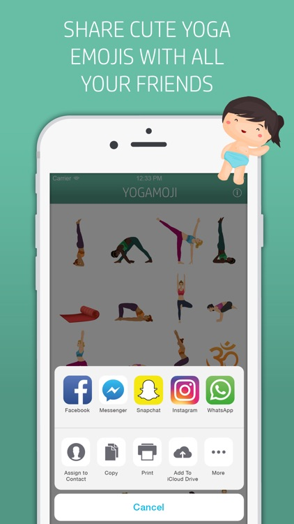 Yogamoji: Blissed out emojis & stickers for yogis screenshot-4