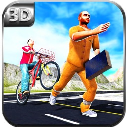 Boy Bike Rider - Thief Chase & Bicycle Run Sim
