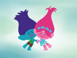 Everyday can be Hug Day with this fun and adorable series of Trolls stickers