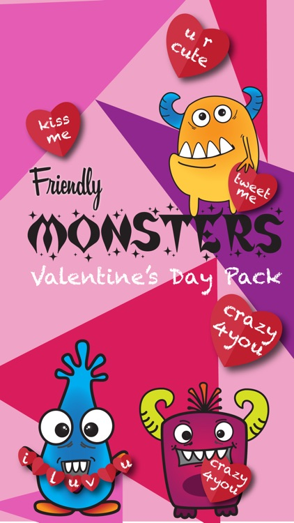 Friendly Monsters Valentines